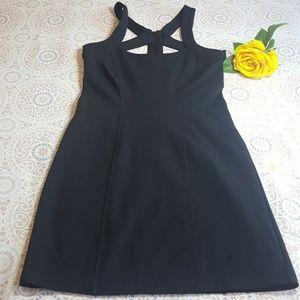 Fredericks of Hollywood Black Bodycon Zip Dress S